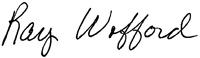Ray Wofford Signature